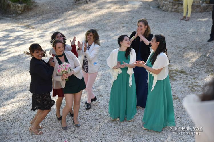 Bouquet throw-Country wedding - Alliance Rêvée - France