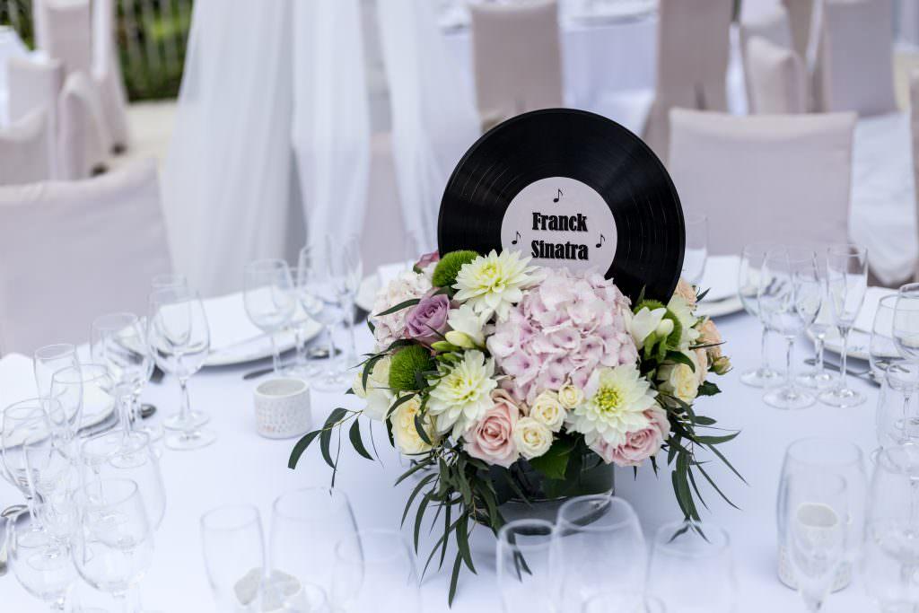 Coordination de mariage- Centre de table- Alliance Rêvée