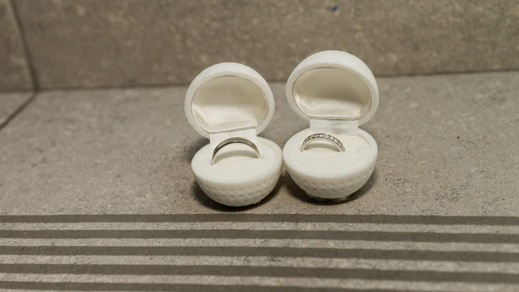 Mariage féerique - Ecrin balle de Golf- Alliance Rêvée
