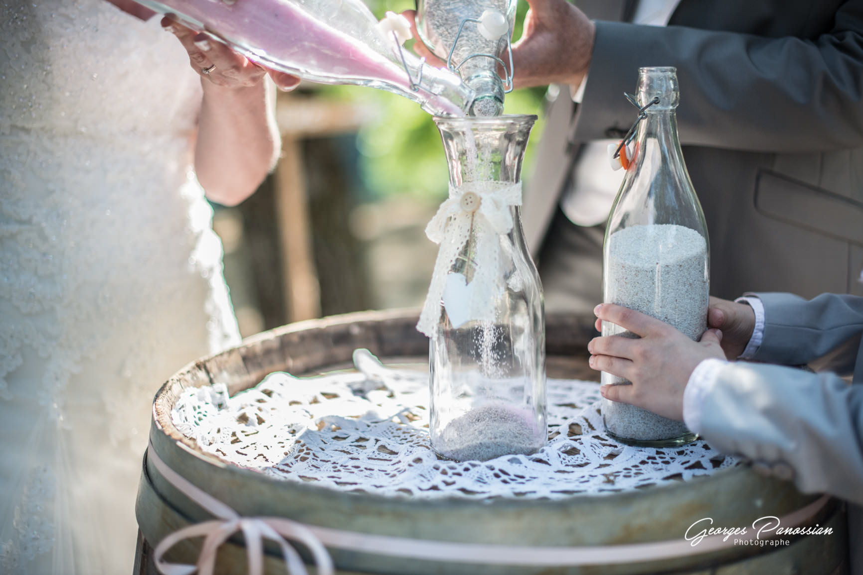 Mariage rétro champetre- Rituel du sable- Alliance Rêvée