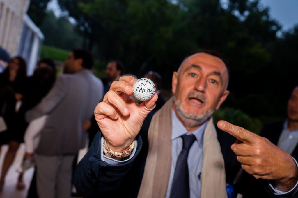 Mariage féerique - Lancer du marié balle de golf- Alliance Rêvée