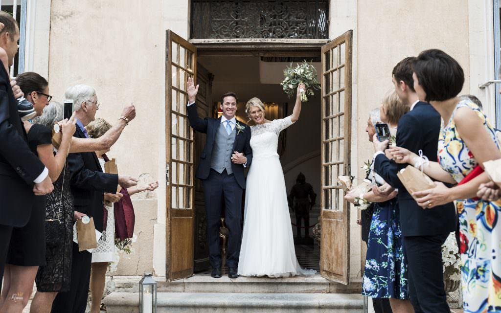 Mariage provence- Sortis de mariés - Alliance Rêvée