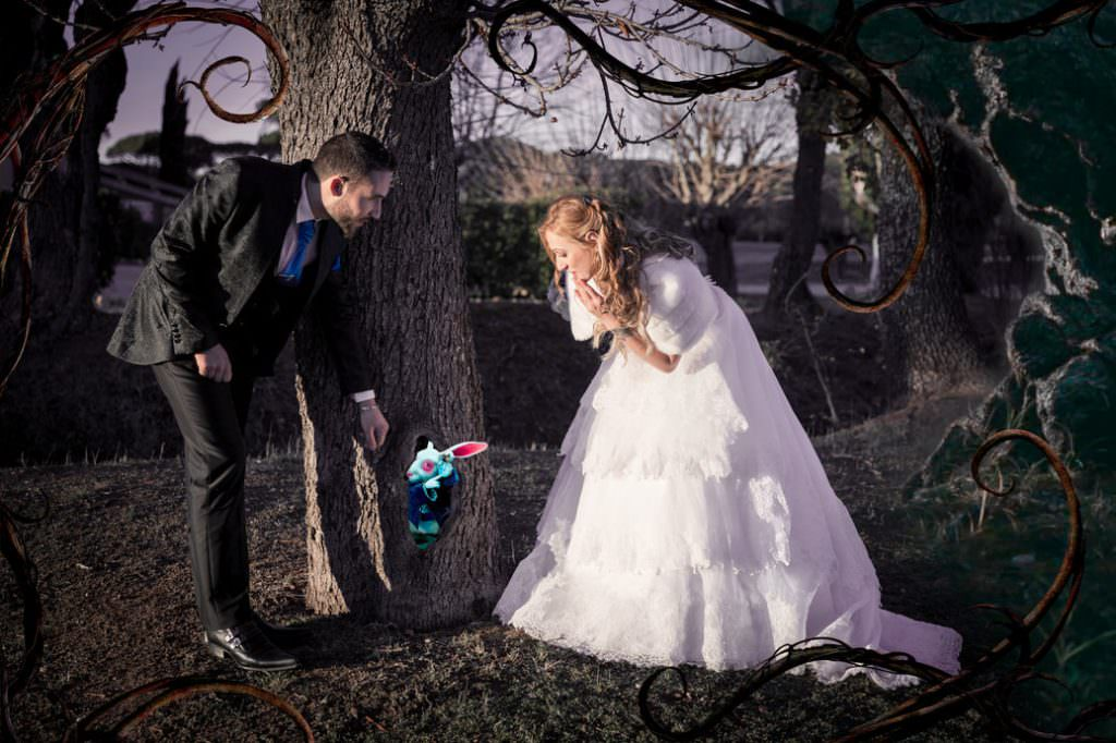 Mariage hivernal- Alice aux pays des merveilles- Alliance Rêvée