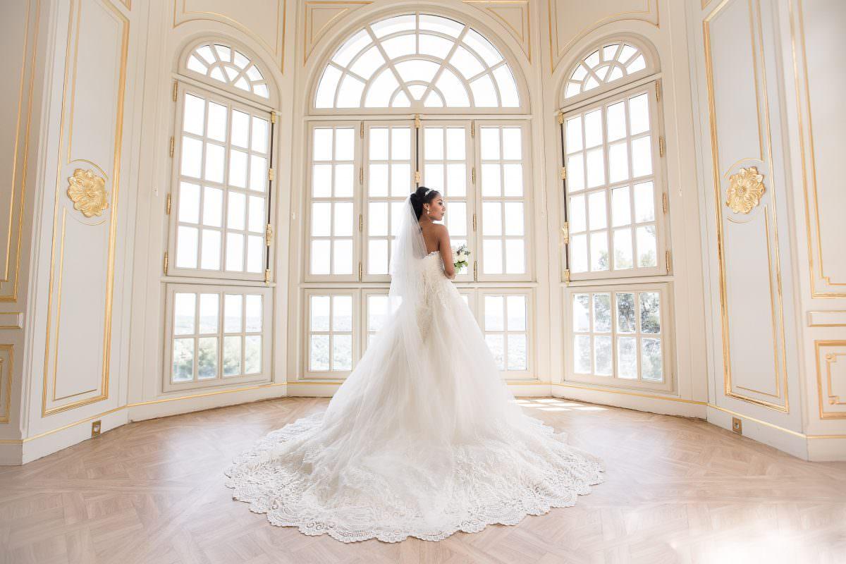 Mariée- Mariage dans un château de la Côte d'Azur - Alliance rêvée