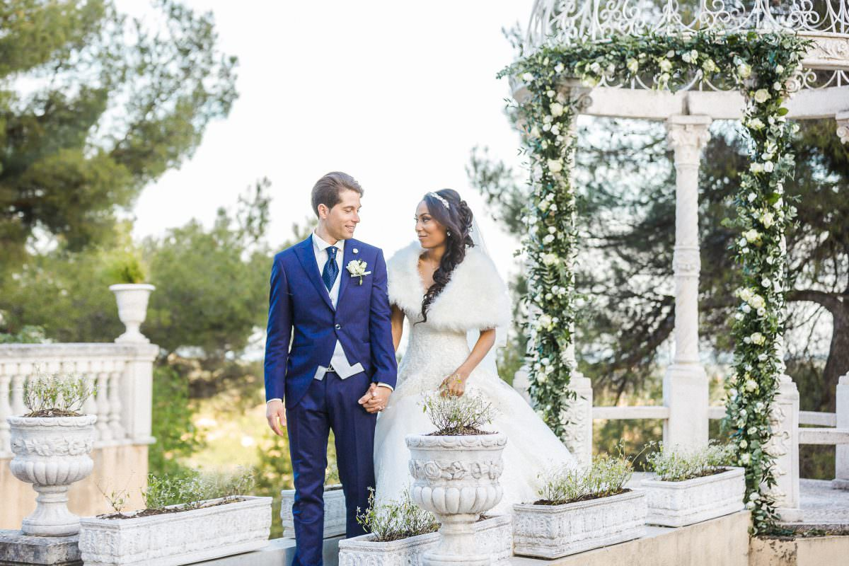 Bride and groom -Wedding in a French Riviera's Castle - Alliance rêvée