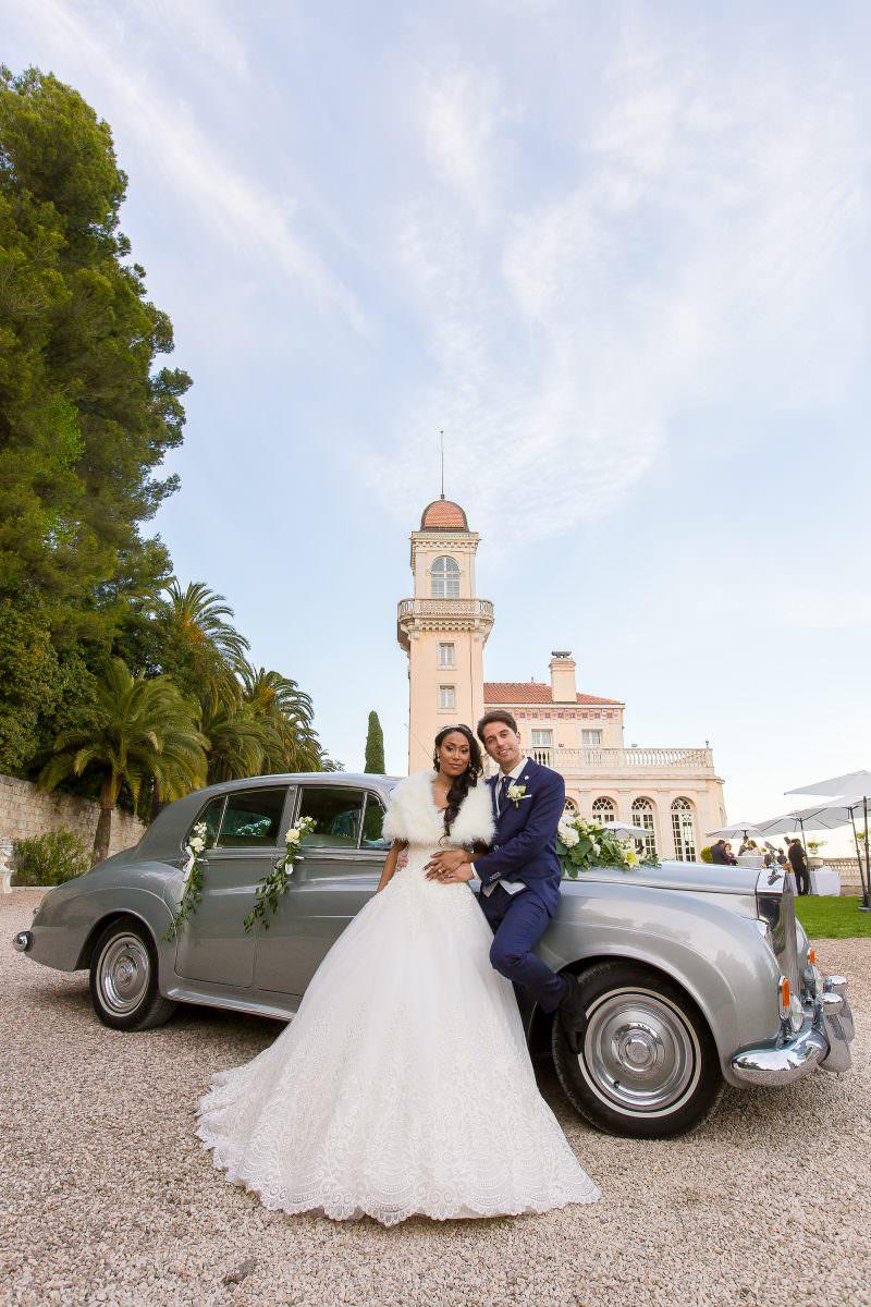 Christian et Nancy avec leur Rolls Royce- Alliance rêvée