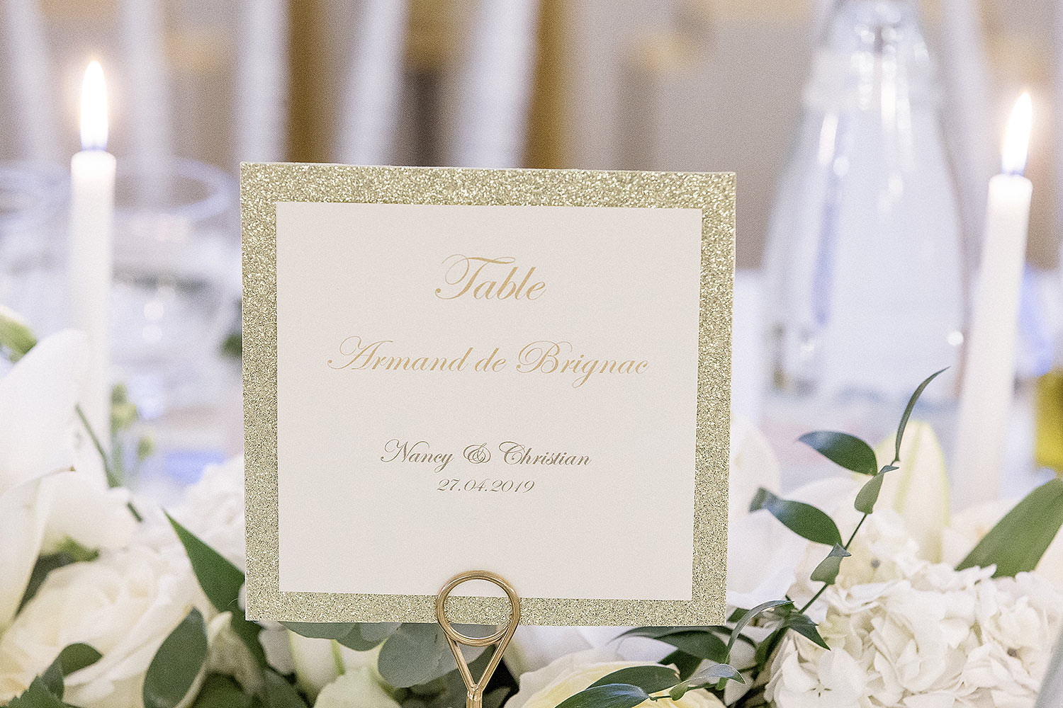 Gold table's name - Wedding in a French Riviera's Castle - Alliance rêvée