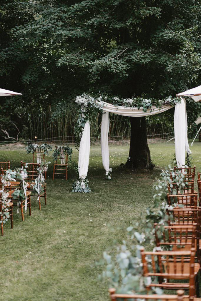 Arche de mariage végétal