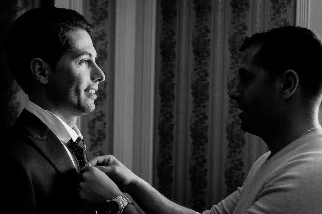 Dressing up of the groom- Alliance Rêvée
