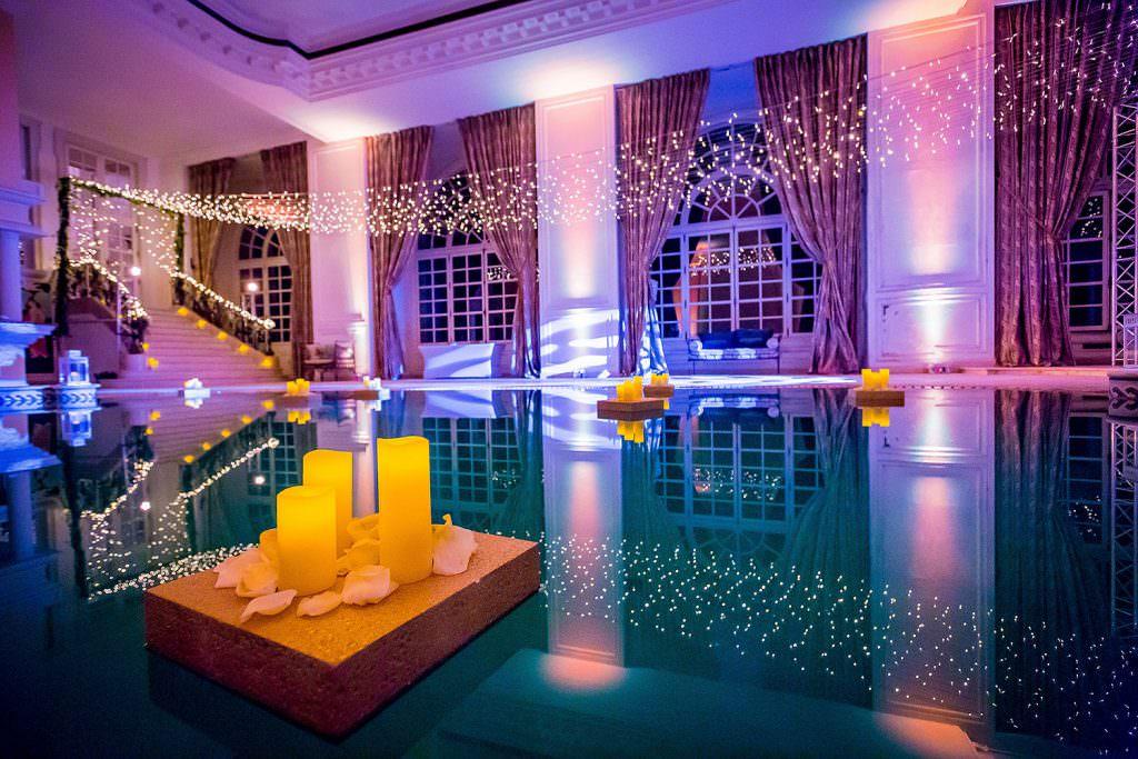 Décoration piscine interieur d un château de la côte d Azur- Alliance Rêvée