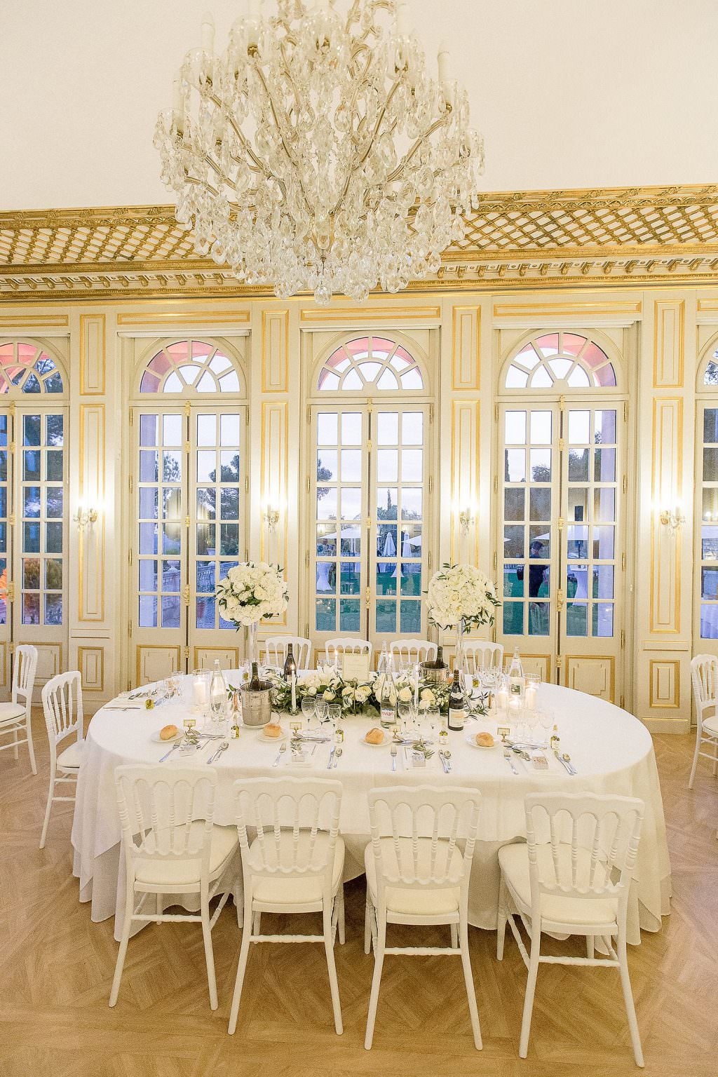 Main table's wedding in a French Riviera Castle- Alliance Rêvée