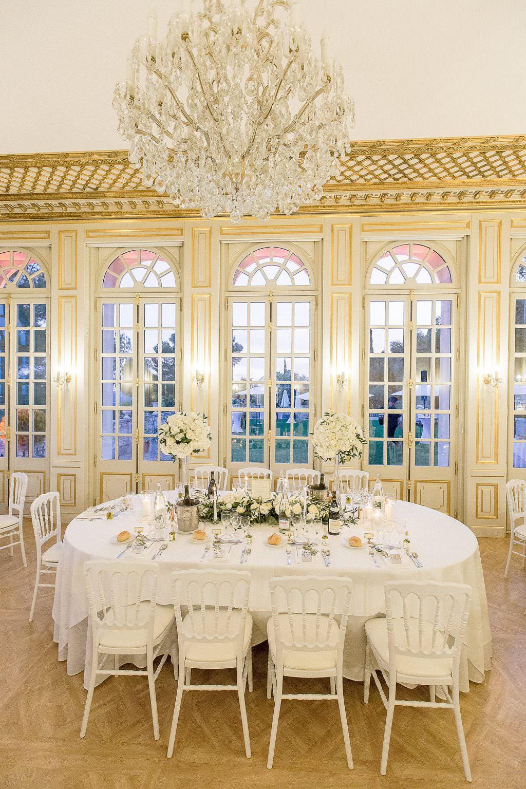 Table d'honneur mariage dans un château de la côte d Azur- Alliance Rêvée