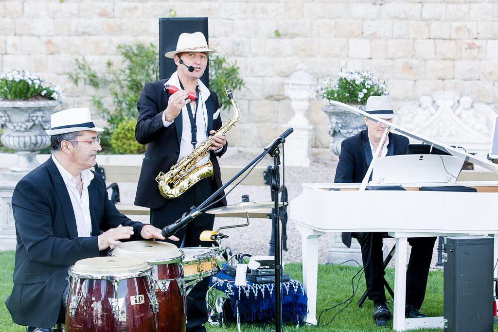 Musiciens latin jazz pour cocktail de mariage- Alliance Rêvée