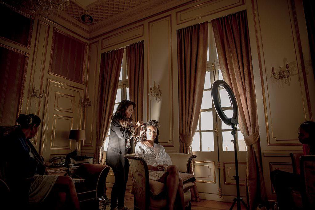 Préparatif coiffure mariée- Alliance Rêvée