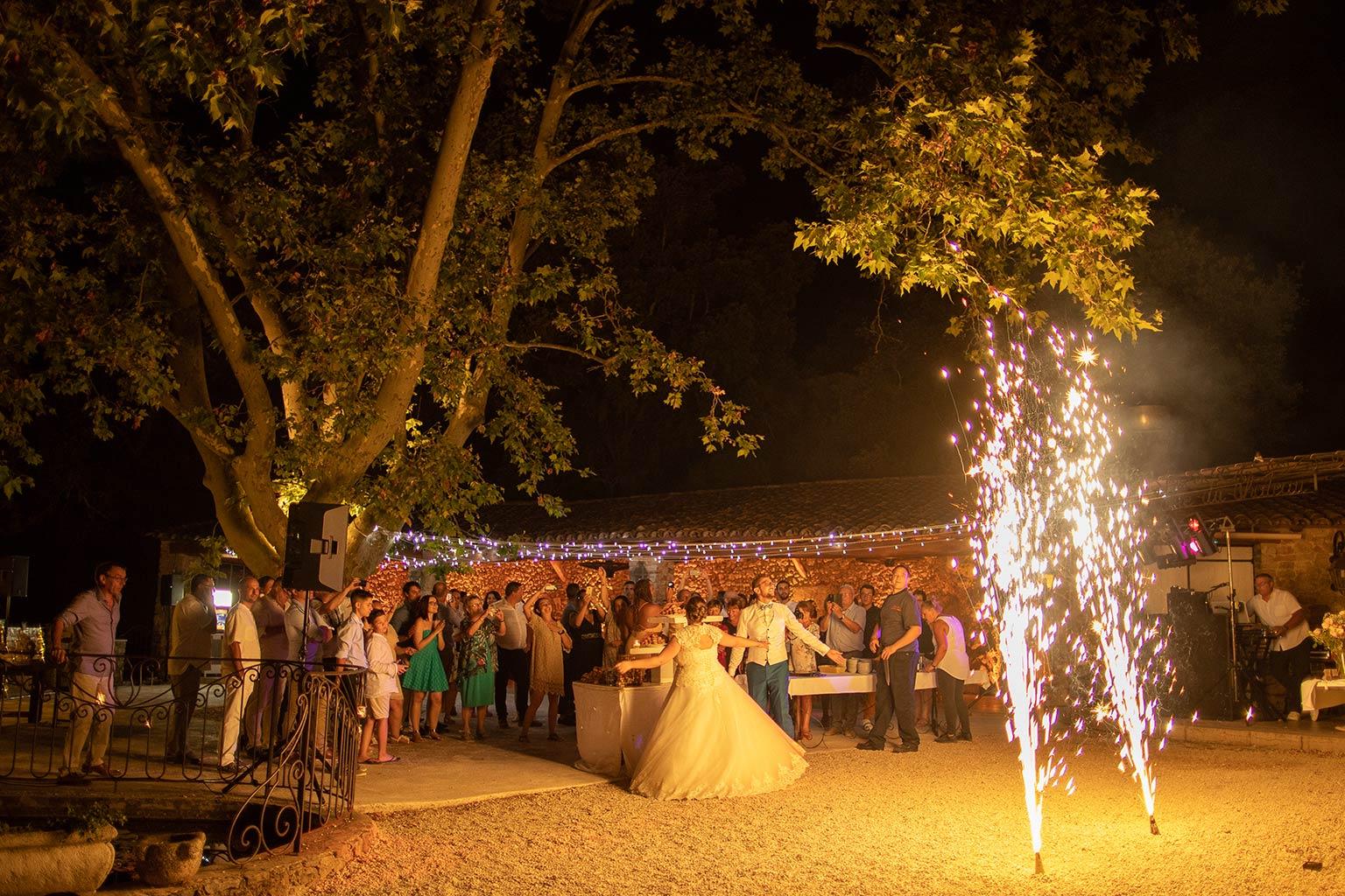Feu d'artifice mariage en Provence
