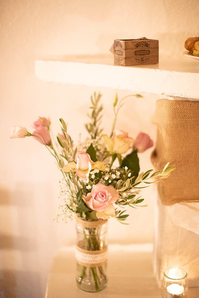 Bouquet de fleurs nature avec une touche Provence