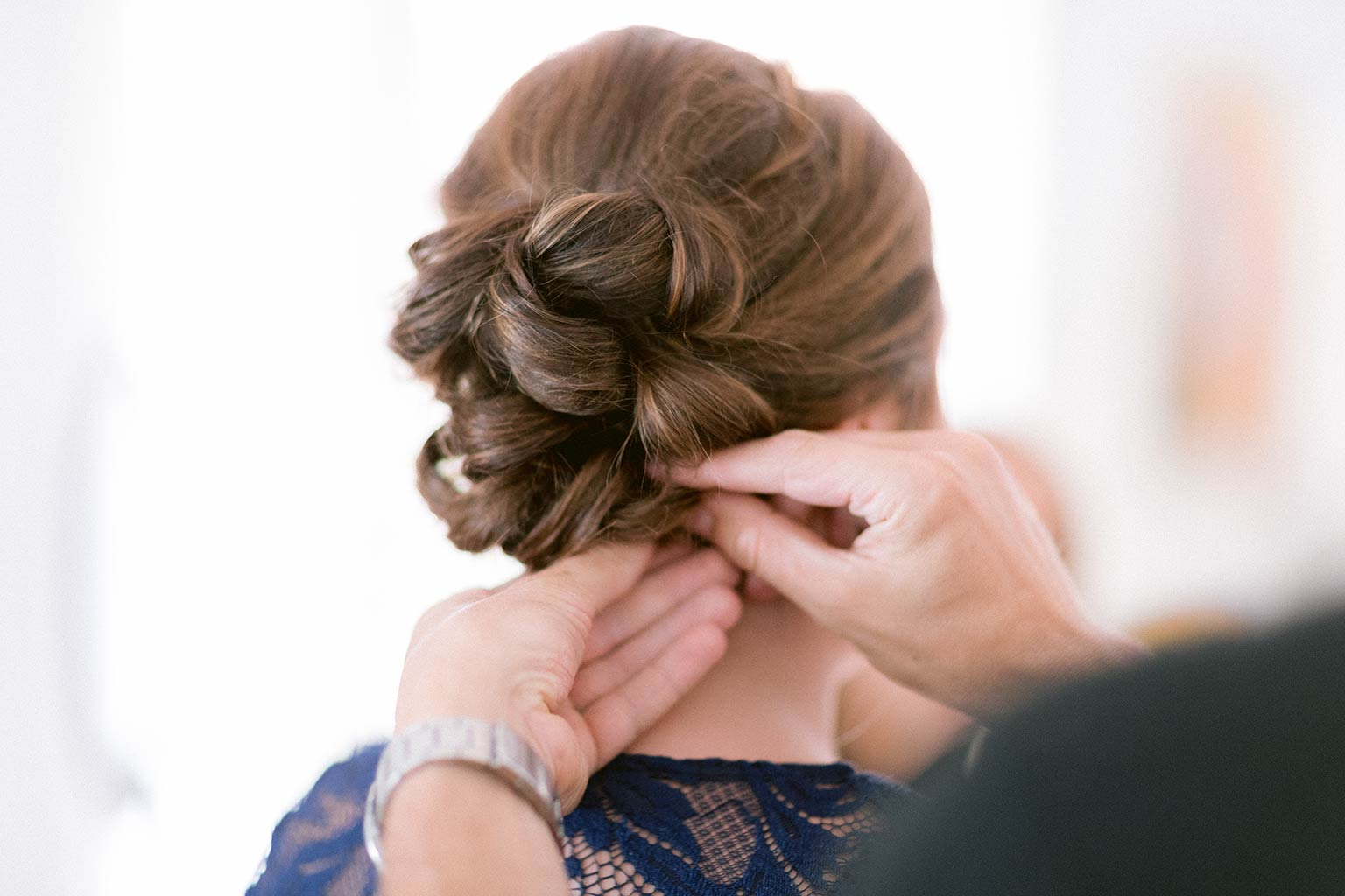 Préparatif de la mariée- Coiffure