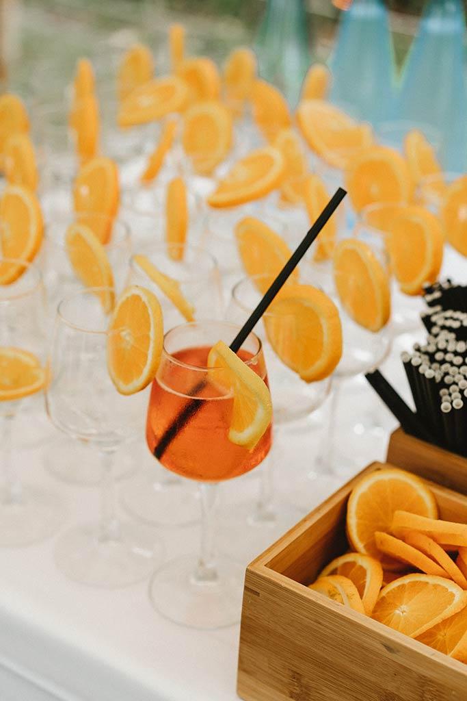 Aperol Spritz wedding cocktail