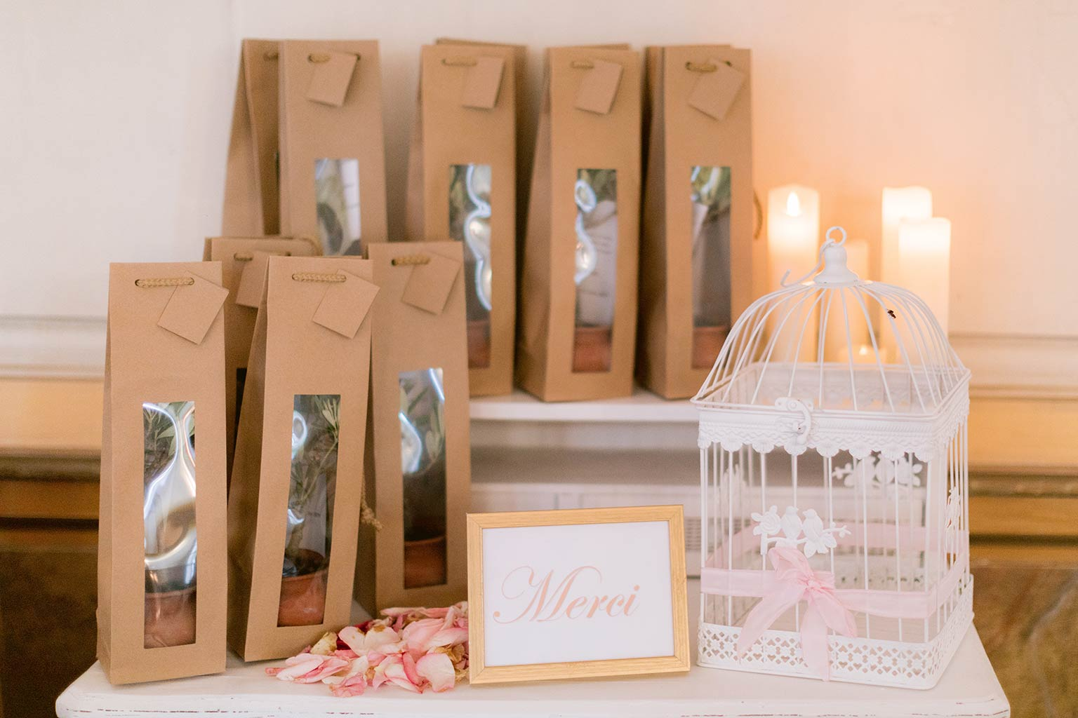 Small olive trees-original guest favors- Destination wedding between the French Riviera and Provence