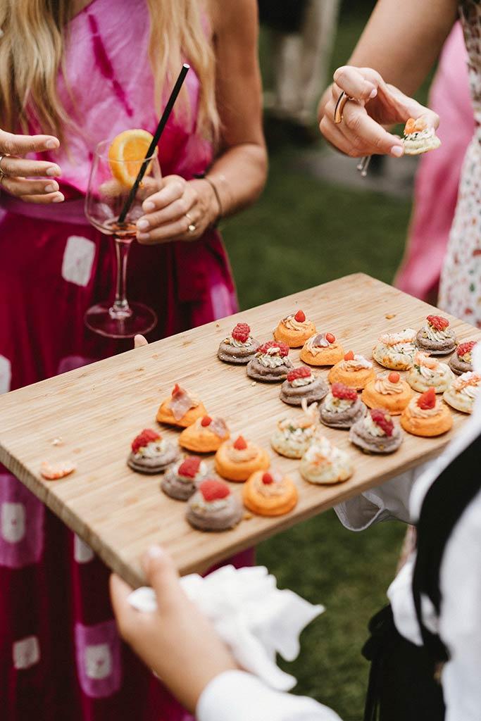 Finger food wedding cocktail