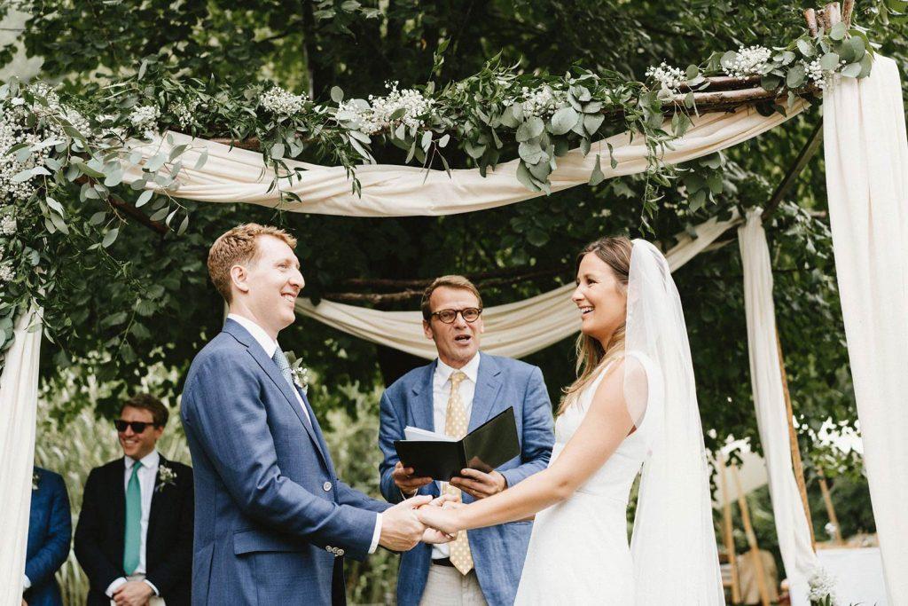 Cérémonie de mariage thème végétal
