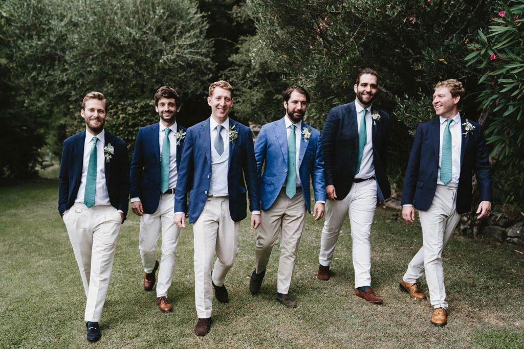 Groom party boys- Mariage végétal dans une propriété privée - Alliance Rêvée