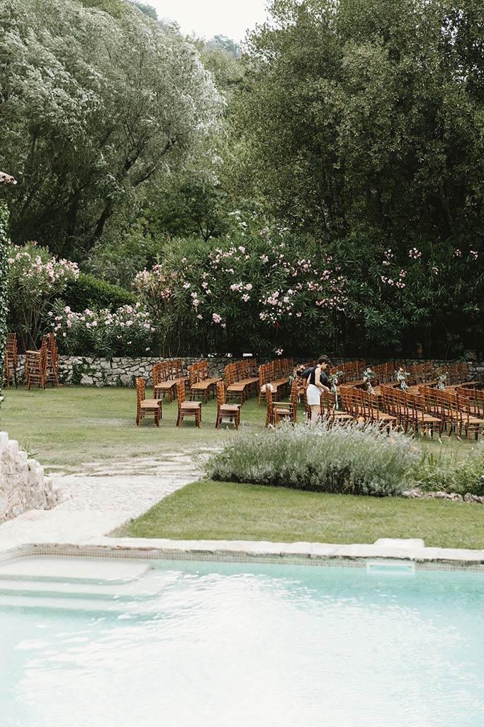 Mariage végétal dans une propriété privée - Alliance Rêvée