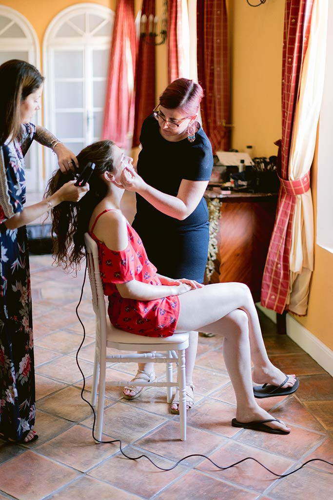 Make up and Hairstyling for the bride