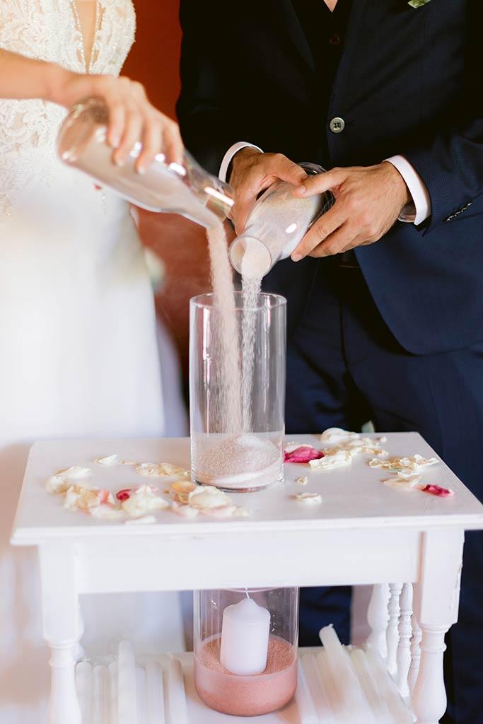 Rituel du sable - Cérémonie de mariage