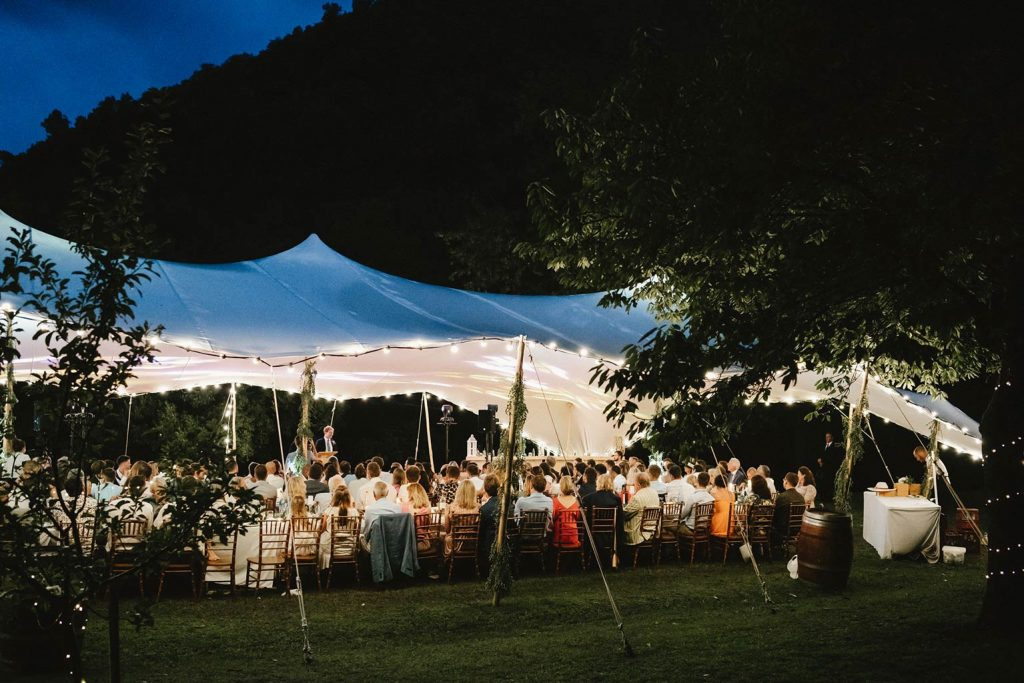 Wedding dinner area