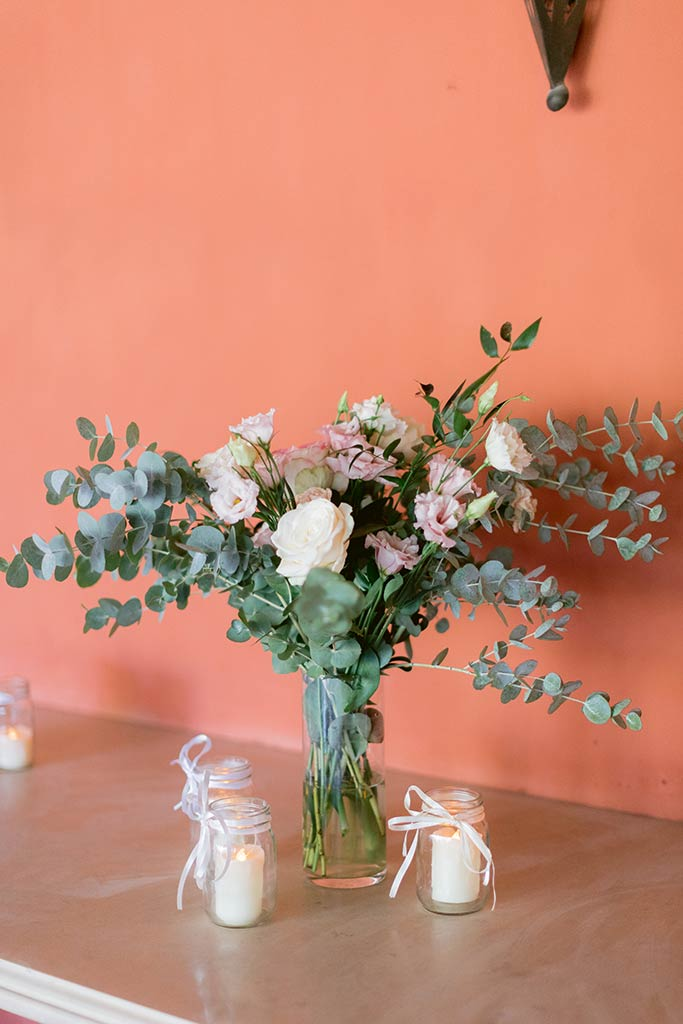 Bouquet et bougie  -  Alliance Rêvée