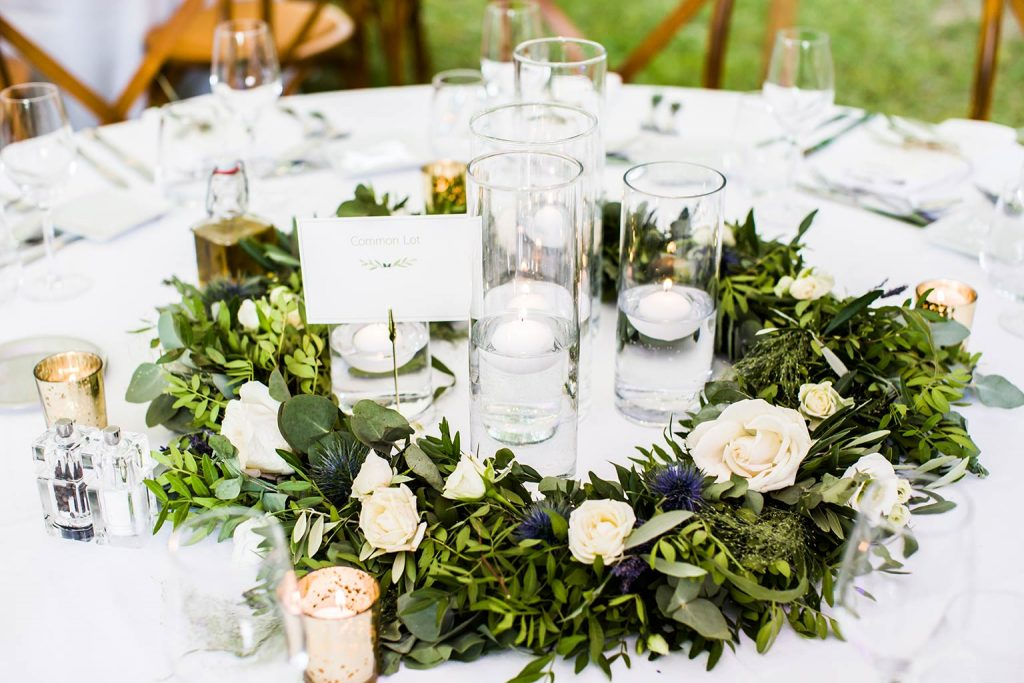 Centre de table décoration de Mariage de Margaux et William - Alliance Rêvée