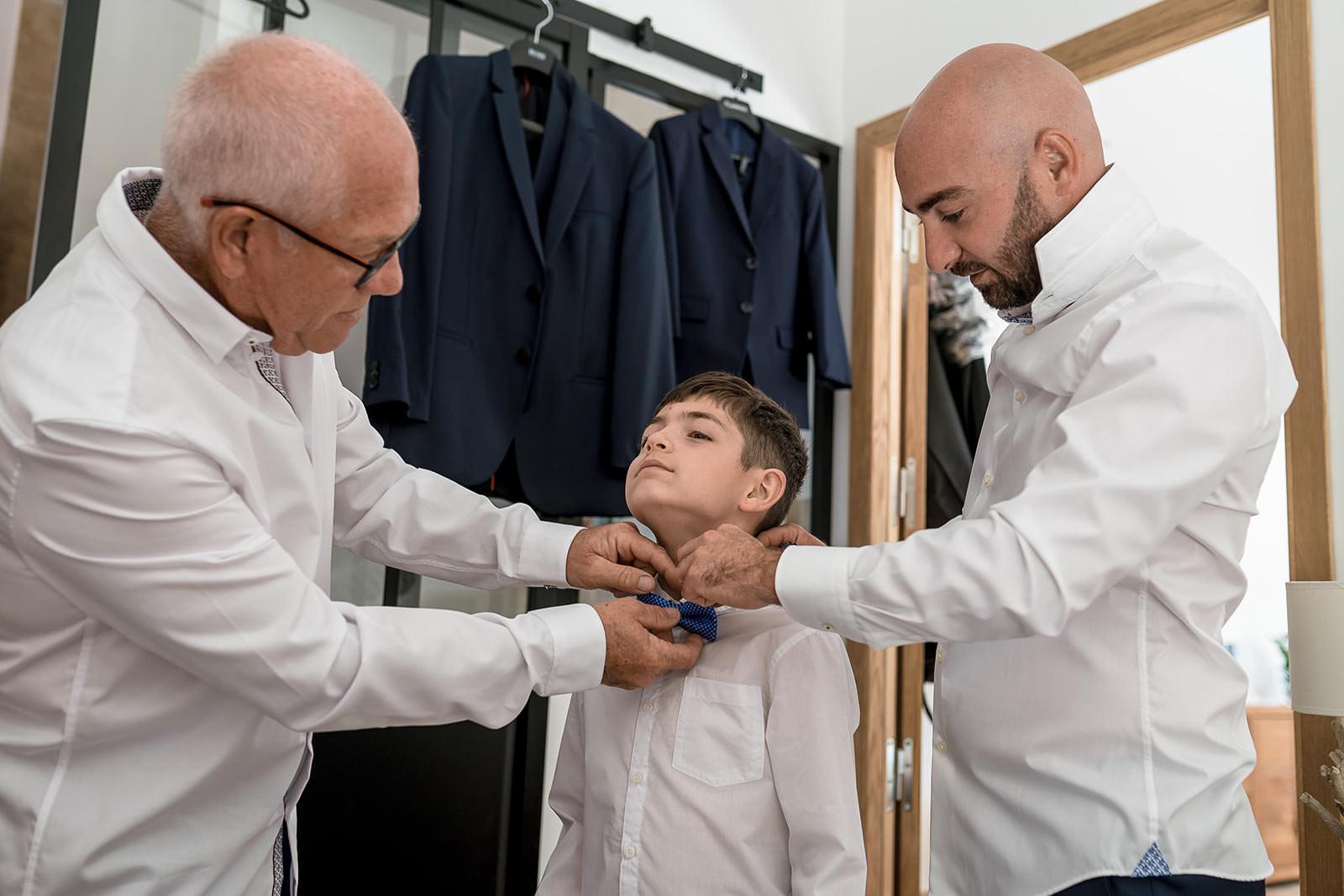 Père, fils, grand père - 3 générations pour des préparatifs de mariage- Alliance Rêvée