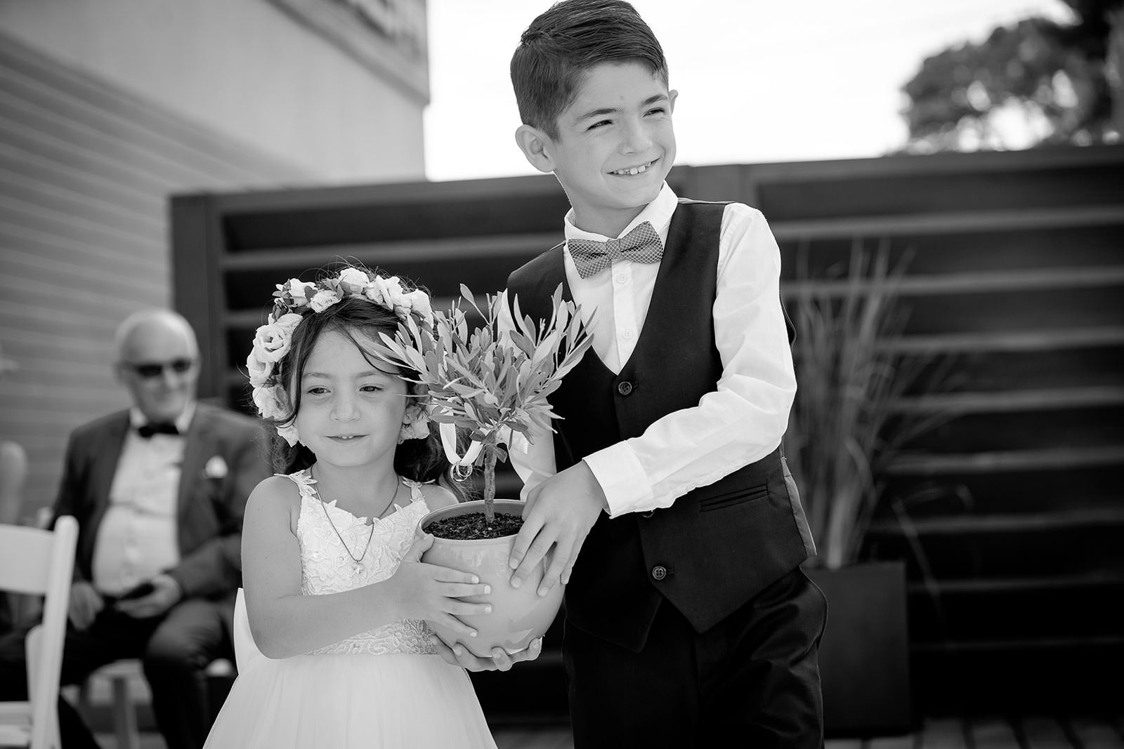 Enfants d'honneurs et de Coralie et Nicolas -Porteurs d'alliance